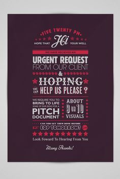 A client email by Ello Mate! , via Behance Graphic Design Posters, Graphic Design Inspiration, Typography Design, Style Inspiration, Cool Posters, Public Relations, App Design, Make Me Smile, The Twenties