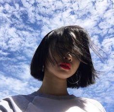 girl, ulzzang, and hair image Mode Ulzzang, Ulzzang Korean Girl, Ulzzang Short Hair, Girl Short Hair, Short Girls, Japonese Girl, Couple Ulzzang, Girls Tumblrs, Vetement Fashion
