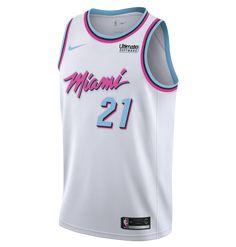 d6ca21cb2 Hassan Whiteside Nike Miami HEAT Vice Uniform City Edition Swingman Jersey