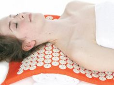 Spoonk Acupressure mat to eleviate pain, and de-stress. Lay on the mat for 20-40 minutes and relax. $69