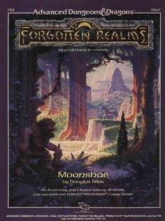 FR2 Moonshae (1e) - Forgotten Realms | Book cover and interior art for Advanced Dungeons and Dragons 1.0 - Advanced Dungeons & Dragons, D&D, DND, AD&D, ADND, 1st Edition, 1st Ed., 1.0, 1E, OSRIC, OSR, d20, fantasy, Roleplaying Game, Role Playing Game, RPG, Wizards of the Coast, WotC, TSR Inc. | Create your own roleplaying game books w/ RPG Bard: www.rpgbard.com | Not Trusty Sword art: click artwork for source