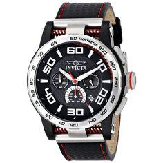 Invicta 15903 Men's S1 Rally Black Carbon Fiber Dial Black Silicone Strap Chronograph Watch,