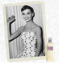"""Star Scents: Iconic Women's Perfume...Givenchy L'Interdit. Created especially for Audrey Hepburn and commissioned by Hubert de Givenchy was named """"Forbidden"""".  It was in the 1960's that it was released to the public."""