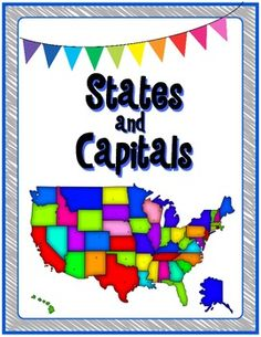 States and Capitals memory game/flash card