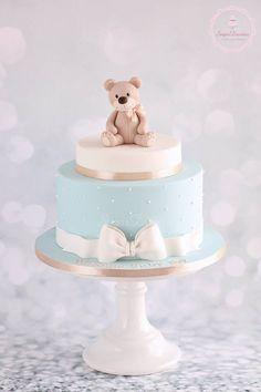 Torta Baby Shower, Baby Shower Cakes For Boys, Baby Boy Cakes, Boy Baby Shower Themes, Baby Shower Balloons, Baby Boy Shower, Babyshower Cake Boy, Teddy Bear Birthday, Baby Birthday Cakes