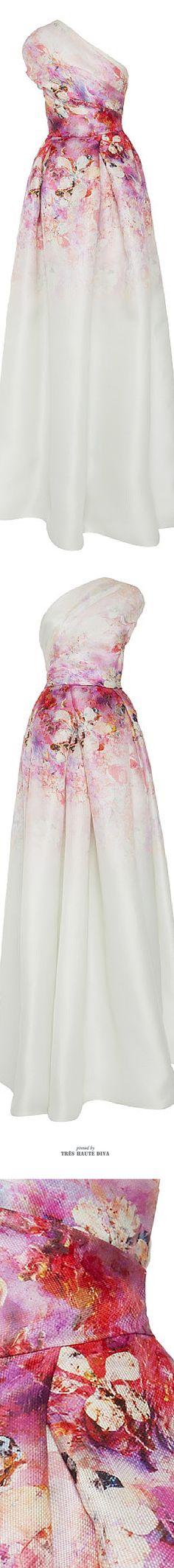 Naeem Khan Floral One Shoulder Gown ♔ SS 2015