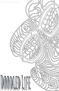 30 Ways to Wind Down :: An Abstract Coloring Journal