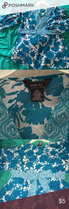 George designs by Mark Eisen Only wore once for wedding. Price is reflected because of how old this shirt is but still In great condition. Tops Blouses