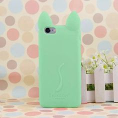 Fashion cartoon 3D koko cute Ear Cat Silicon soft Back Case Cover for iphone 5S 5 5G phone shell ASJK0212