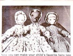Vtg Little Red Riding Hood, Grandma & Wolf Topsy Turvy Doll Pattern. $3.50, via Etsy.