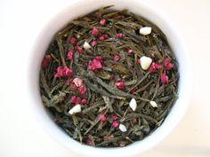 Raspberry Truffle Green Tea loose leaf 1oz 28 by Amitea on Etsy, $3.00