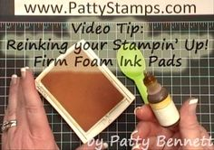 Re-inking firm foam ink pads