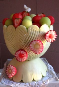 Carving melons on Pinterest | 63 Pins
