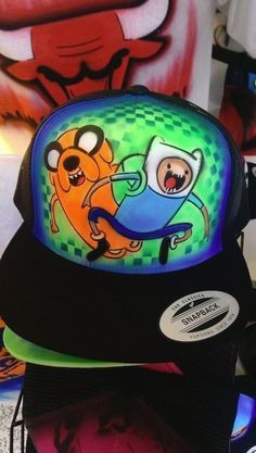 Adventure Time - Airbrushed Hat #Anvil #Personalized