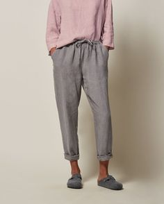 I like the line of these Women's Linen Pull On Trouser