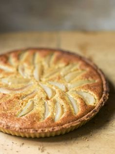 Pear and almond tart (Tarte aux poires Bordaloue) - How to bake Michel Roux Jr's… Easy Tart Recipes, Pear Recipes, Sweet Recipes, Baking Recipes, Almond Tart Recipe, Pear And Almond Tart, Pear Tart Recipe Easy, French Pear Tart Recipe, Sweet Pie