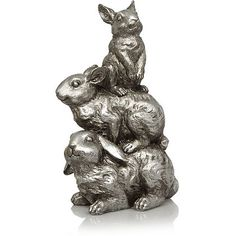 This trio of rabbits are sure to cheer up any corner of your home. Designed exclusively for George Home, they're made from resin with a timeless, silver fini. Garden Sculpture, Lion Sculpture, Asda, Own Home, Home Accessories, Bunny, New Homes, Home And Garden, Statue
