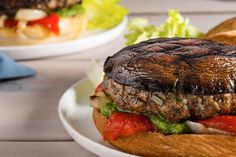 Recipe: Pork and portobello burgers || Photo: Francesco Tonelli for The New York Times