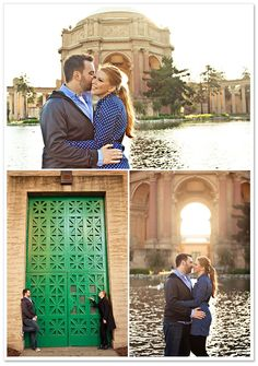 SF's Palace of Fine Arts - great engagement session spot! Photos by Tracy Wong