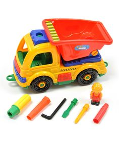 Look at this Take Apart Dump Truck Playset on #zulily today!