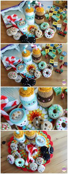 Milk and cookies for Santa NEW crochet pattern by Amigurumi Food!! Christmas crochet pattern, Cute amigurumis!
