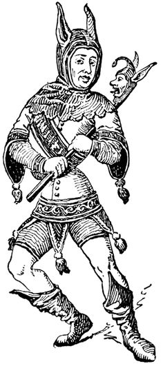 The gallery for --> Medieval Court Jester History Medieval Jester, Medieval Art, Medieval Fantasy, Woodcut Tattoo, Woodcut Art, Joker Playing Card, Court Jester, Punch And Judy, Pierrot