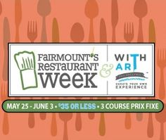 Fairmount Restaurant Week is better With Art Philadelphia! Special three-course menus for $35 or less. May 25 - June 3, 2012.