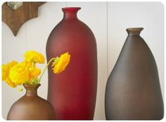 recycled jewel-tone vases