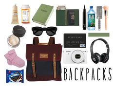 """""""In my bag"""" by atylol ❤ liked on Polyvore featuring Guerlain, Ted Baker, T3, Beats by Dr. Dre, Jouer, Royce Leather, Crabtree & Evelyn, Brooks Brothers, Yves Saint Laurent and backpack"""