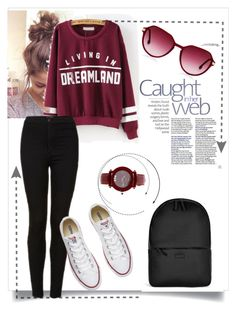 """""""Untitled #17"""" by camila-632 ❤ liked on Polyvore featuring Rains, Topshop, Converse and Chopard"""