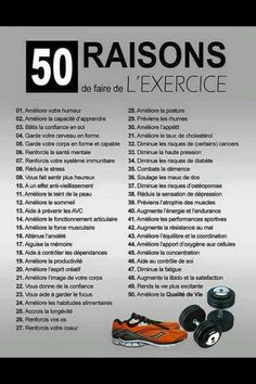 50 raisons de faire de l'exercice