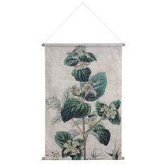HKliving Poster Linnen Schoolkaart Botanical - 100 x 70 cm
