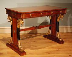 "A Regency writing table. Circa 1810 england. 29.5""H x 42""W x 23.5""D."