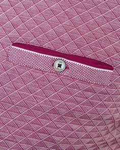 Oxford cotton jacquard polo - Purple | Tops & T-shirts | Ted Baker UK