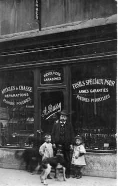 Old Stock Photo French Shop Boutique