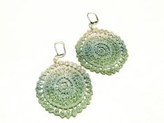 Lace Earrings   Mint Green Blue and White by White Bear Accessories, $15.00