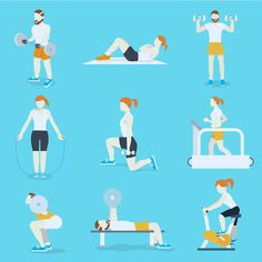 People training exercise bikes and cardio fitness treadmills with bench press icons collection flat isolated vector illustration , Causes Of Depression, Depression Remedies, Fighting Depression, Depression Treatment, Weight Training Programs, Effects Of Stress, Best Brains, How To Treat Anxiety, Regular Exercise