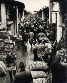 Gazi area in Athensm vegetable market - 1930's
