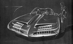 Henry Gurr's book played an important role in my interest in car design. Automotive Design, Auto Design, Graffiti Cartoons, Gm Car, Car Illustration, Retro Cars, Amazing Cars, Concept Cars, Dream Cars