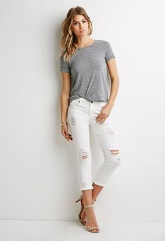 Jeans Life in Progress Rotos | Forever 21 Contemporary - 2000052573
