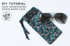 DIY Drawstring Sunglasses Case