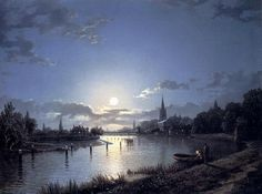 Henry Pether (1828-1865) Marlow on Thames