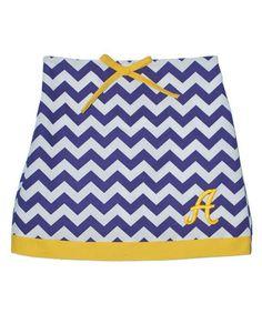 Loving this Purple & Yellow Zigzag Initial Skort - Toddler & Girls on #zulily! #zulilyfinds