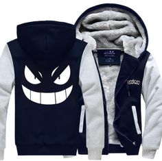 Pokemon Gengar Monsters Jacket Thicken Hoodie