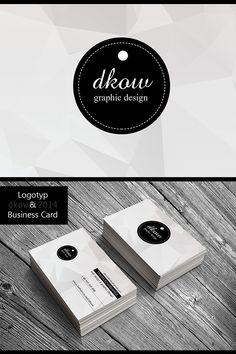 """""""dkow""""Logotyp & Business Card by Dorota Kowalewska, via Behance"""