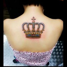 Princess Crown Tattoos | posts crown tattoo on girl upper arm crown tattoo on back crown tattoo ...