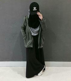Hijab Niqab, Muslim Hijab, Hijab Chic, Niqab Fashion, Street Hijab Fashion, Hijab Style Dress, Casual Hijab Outfit, Hijabi Girl, Girl Hijab