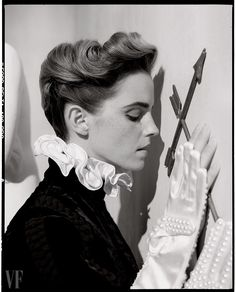 Watson wears clothing by Valentino Haute Couture; gloves by Monique Lee Millinery.