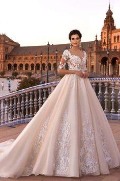 Crystal Design 2017 Wedding Dress #ARTodayCharmJewelryCo.