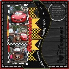 Template - I Disney - MouseScrappers - Disney Scrapbooking Gallery Ideas Scrapbook, Paper Bag Scrapbook, Disney Scrapbook Pages, Scrapbook Page Layouts, Scrapbook Cards, Scrapbooking Ideas, Scrapbook Sketches, Digital Scrapbooking, Disney Cars